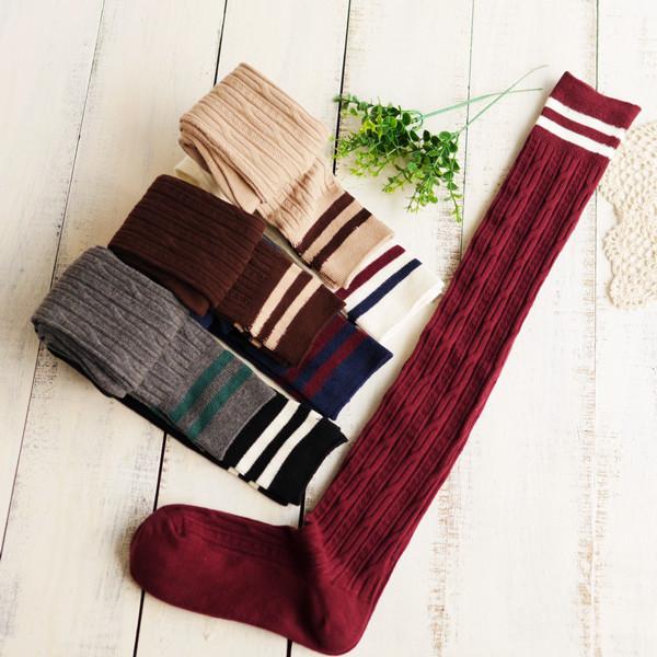 韩国宽松袜套加长秋冬款堆堆袜 脚套 长筒袜过膝 靴套过膝袜女