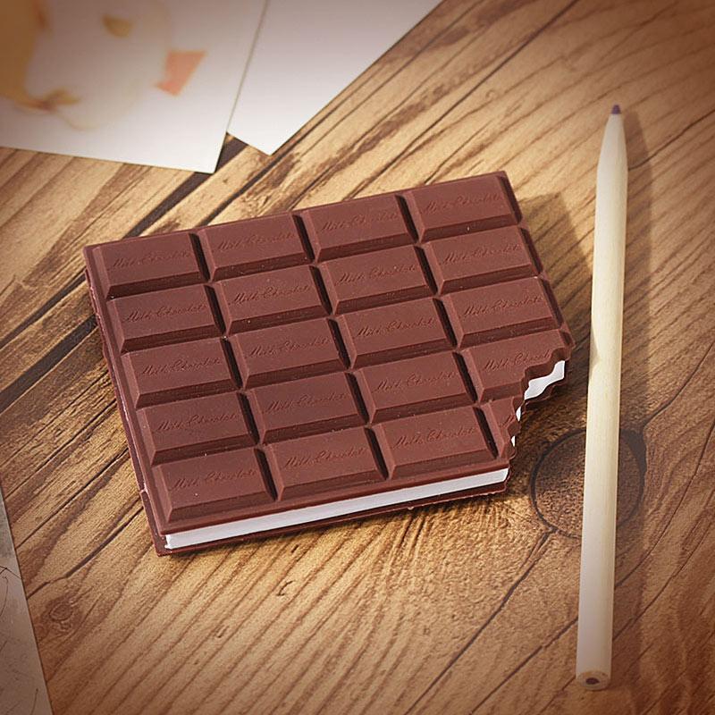 创意有味道的巧克力造型记事本 迷你便携笔记便签本便条本 咖啡色