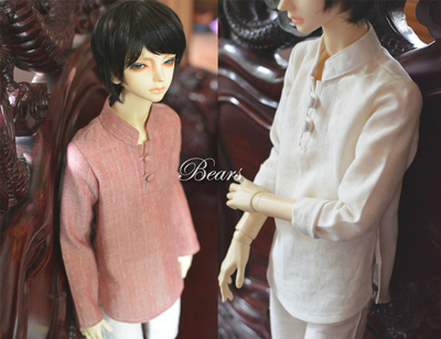 taobao agent ◆Bears◆BJD baby clothes A137 Republican style retro stand-collar linen shirt-2 colors into 1/4&1/3&Uncle