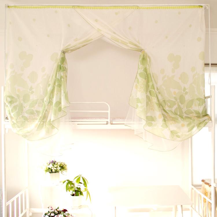 Có thể dành cho sinh viên đại học, giường ký túc xá, rèm cửa phòng ngủ, giường tầng trên và dưới, ba bên, cùng với hoa, lưới chống muỗi hai lớp, 18 mẫu