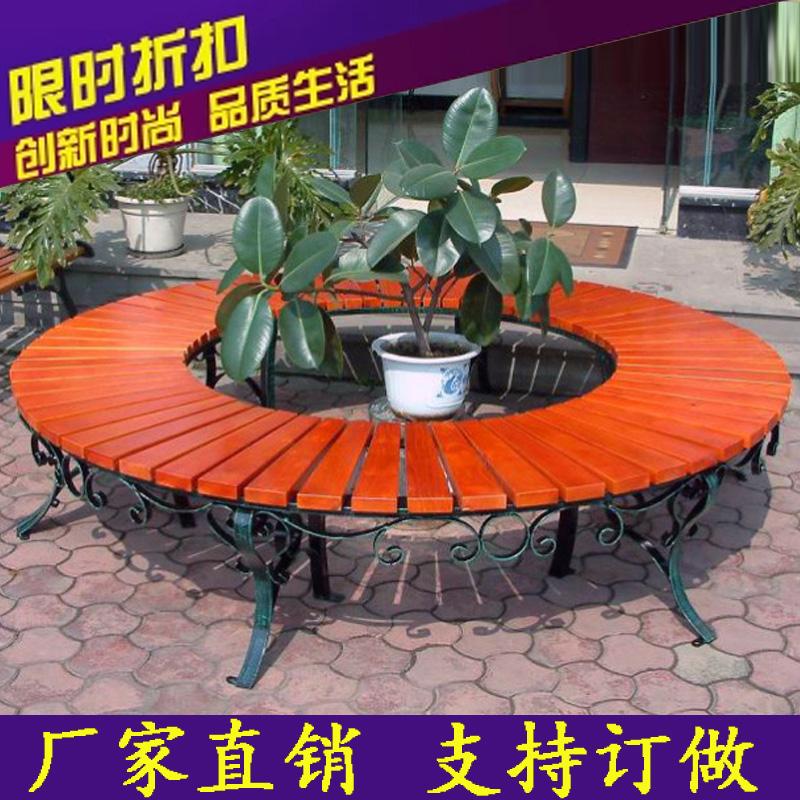 防腐木花箱定做 特大正方形 户外防腐木广场花箱花池 花坛带座椅