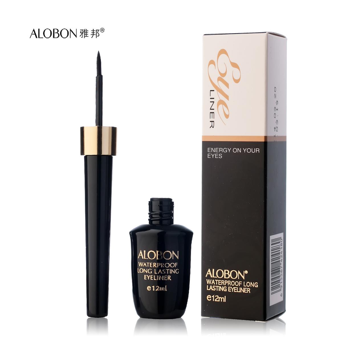 AloBon lâu dài không thấm nước bút kẻ mắt 12ml không thấm nước và mồ hôi kháng trang điểm lâu dài trang điểm