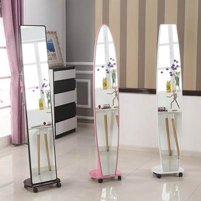 Dressing mirror full body mirror rotation testing mirror simple home dormitory bedroom stereo mirror INS specials