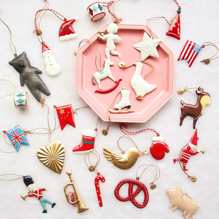 export nordic christmas tree ornaments pendant small christmas supplies double sided resin ornaments christmas gifts - Wholesale Christmas Gifts