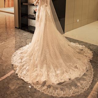 Красота филиппины крахмал саго часть женского имени невеста свадьба платья аксессуары монтаж корейский вуаль кружево серебро край 2019 новый выйти замуж вуаль, цена 1395 руб