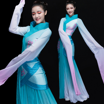 Chinese Folk Dance Costumes Caiwei Dance Costume Watersleeve Classical Dance Costume Chinese Wind Fairy Han Suit Adults