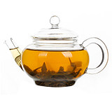 Original glass blister teapot small teapot thickened Kung Fu tea set flower teapot with filter office