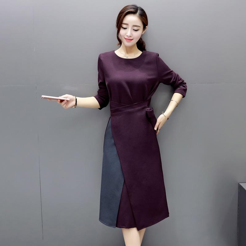 显瘦女装夏装连衣裙子短袖大码不显肉肉遮掩遮盖肚子小肚腩的衣服