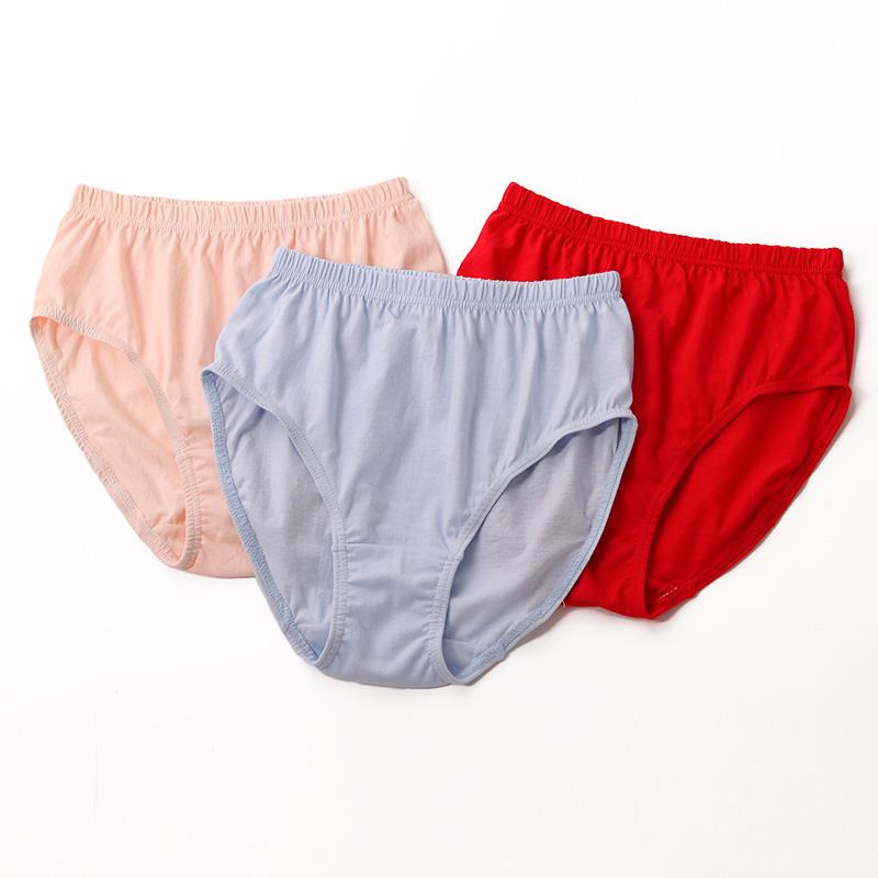 Head ladies underwear ladies cotton high waist briefs loose fat large size  underwear thin summer 9e2c989189bd