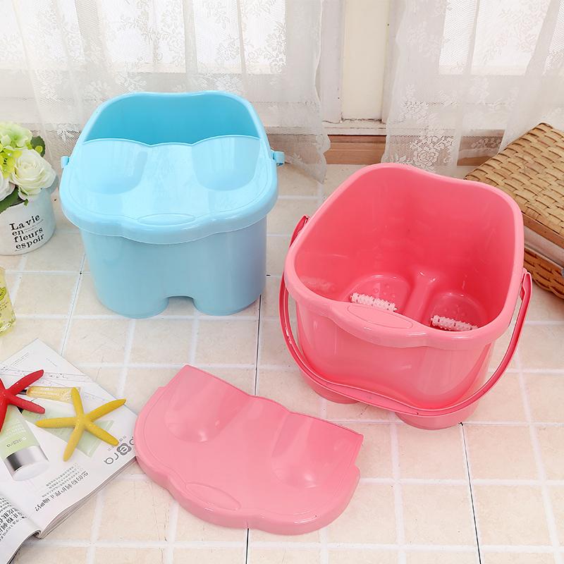 Thickening and high foot bath tub plastic foot bath foot massage ...