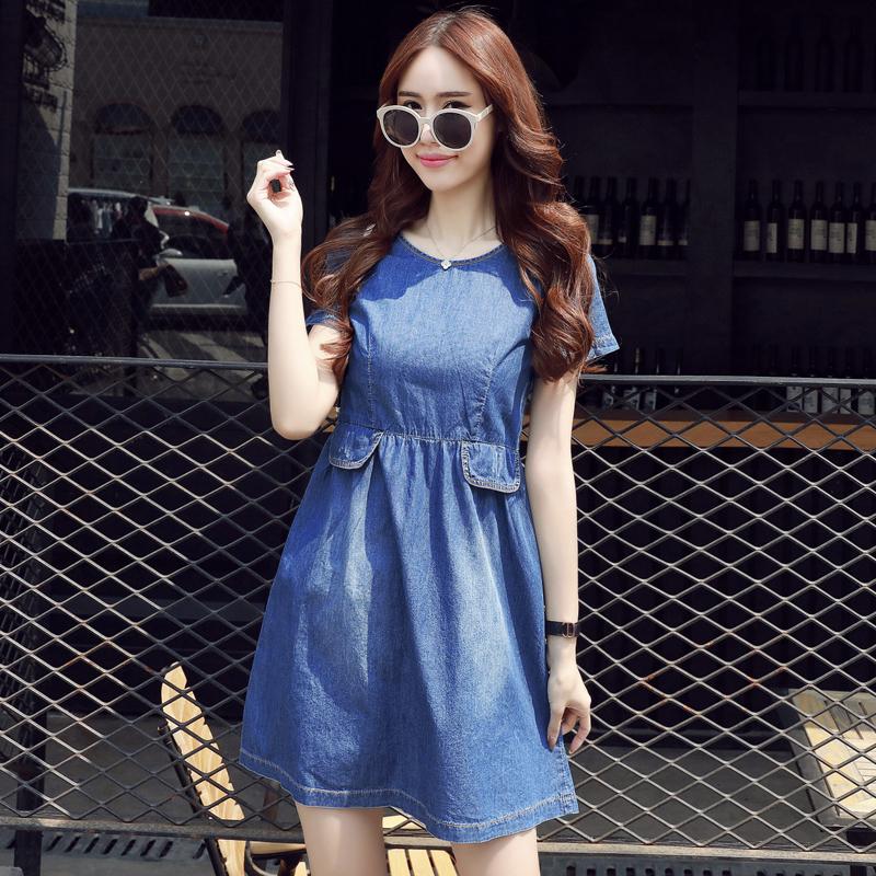 2016夏装新款韩版小清新无袖棉麻连衣裙修身纯色中长款裙子女