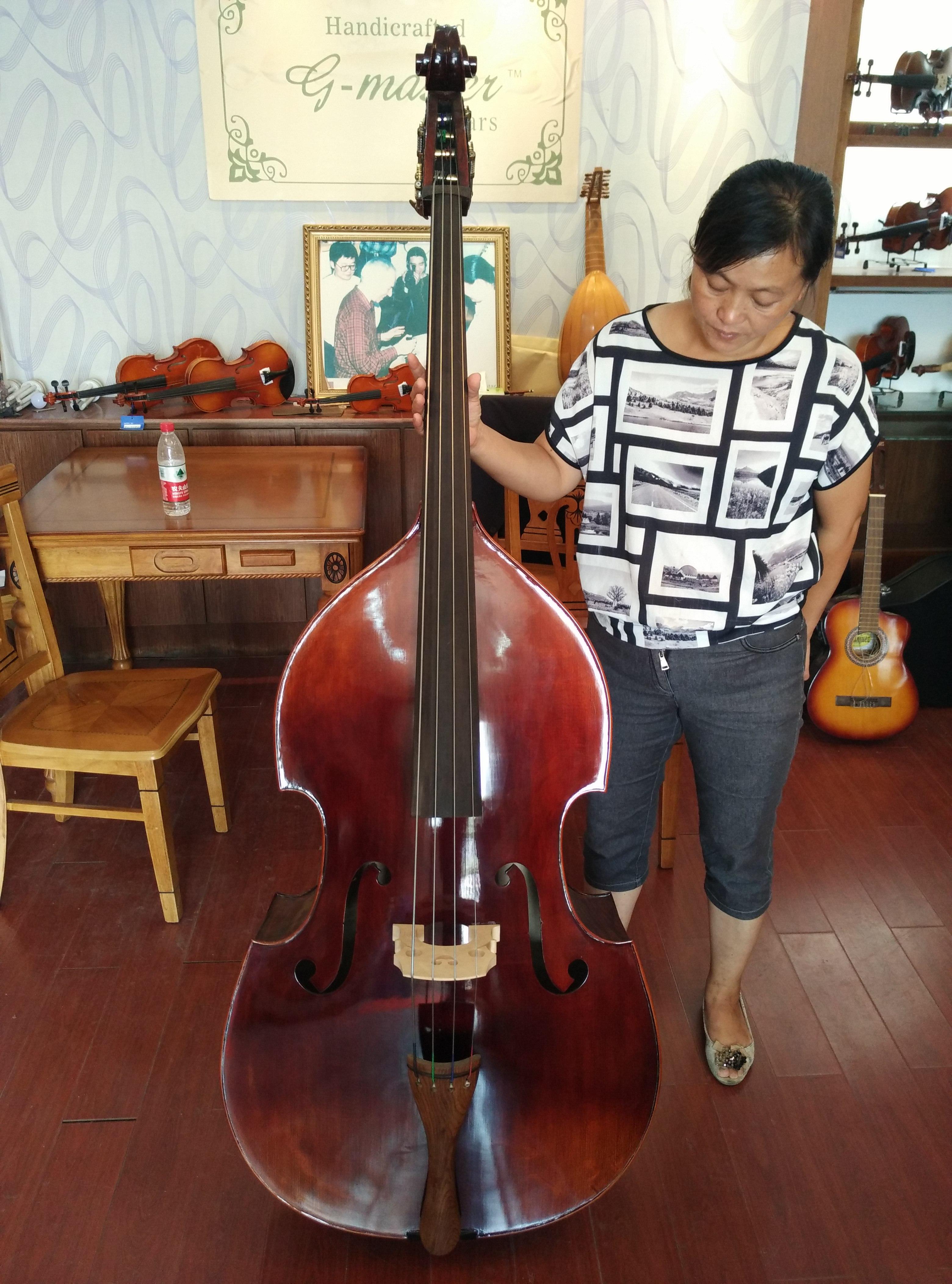 3/4 высокое качество бутик высококачественный тигр клен специальность играя использование бас скрипка время большой скрипка большой бас музыкальные инструменты