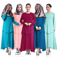 2017 Muslim clothing women's robes worship service Hui nationality performance service muslim Chinese style fake two-piece