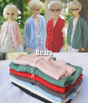taobao agent ◆Bears◆BJD baby clothes A145 knitted cardigan ~ literary and artistic all-match ~ 7 colors on sale! 1/4&1/3&Uncle