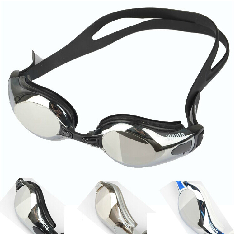 0c8dd6d2ef6 Genuine British power plated goggles waterproof anti-fog swimming glasses  coated large frame adult men and women Y2800M