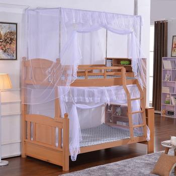 子母床蚊帐上下铺学生宿舍高低床双层床坐床式方顶绑带式不打孔