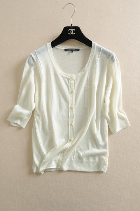 短款不规则针织衫女开衫外搭圆领长袖薄款夏天纯色小披肩毛衣外套