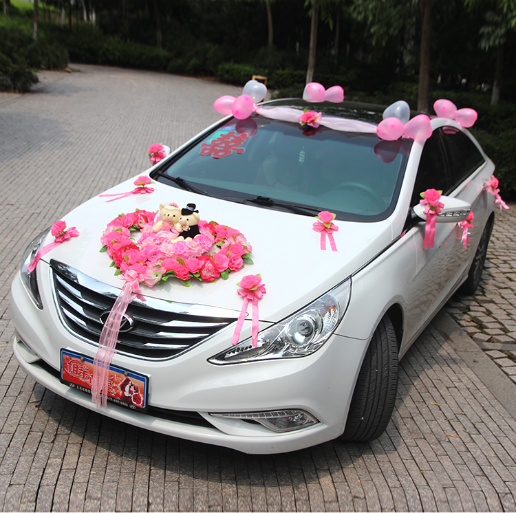 USD 68.66] Wedding wedding wedding supplies wedding car decoration ...