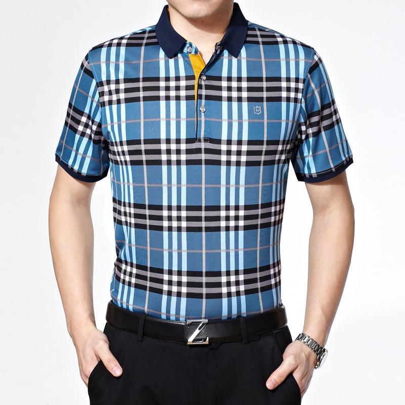 2015夏装新款男装九牧王短袖T恤衬衫桑蚕丝花纹商务中年短袖衬衣