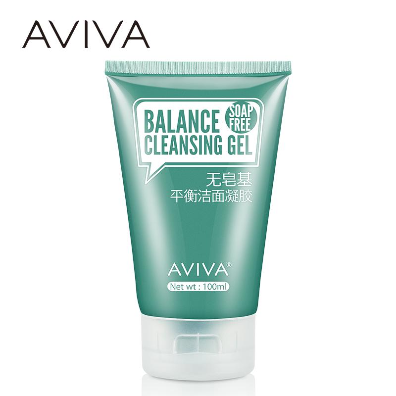 AVIVA 无皂基平衡洁面凝胶 女男士洁净补水控油 弱酸性洗面奶乳