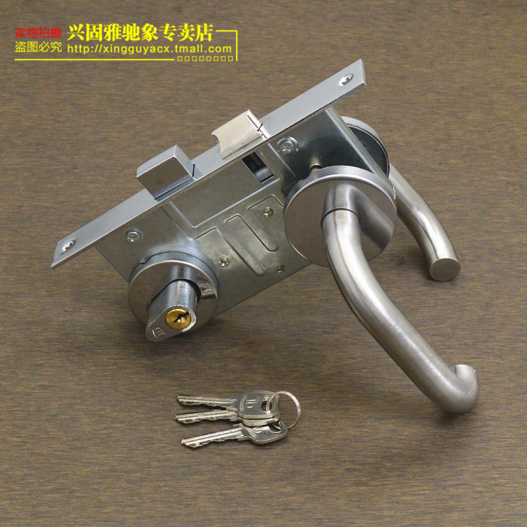 Stainless Steel Fire Lock Iron Handle Handle Fire Door Lock Aisle Passage  Of Fire Locking