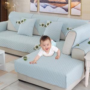 欧式沙发垫布艺简约现代沙发坐垫防滑沙发套罩全包萬能套四季通用