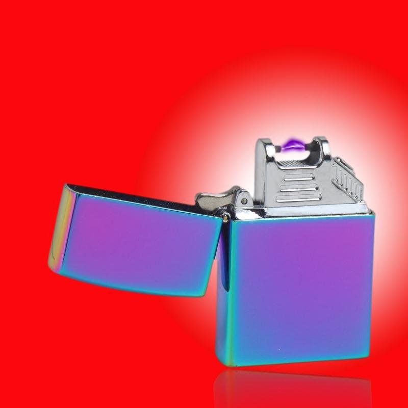 usb超薄脉冲电弧充电打火机潮男防风电子点烟器个性打火机 礼盒