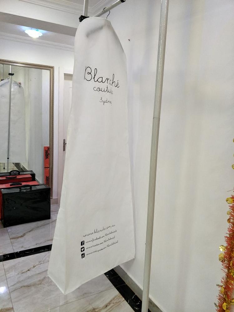 Чехол для костюма Увеличить трейлинг-рыбий хвост свадебное платье пылезащитный чехол расширились утолщенный двойной, котор встали на сторону Non-сплетенный мешок платье белого