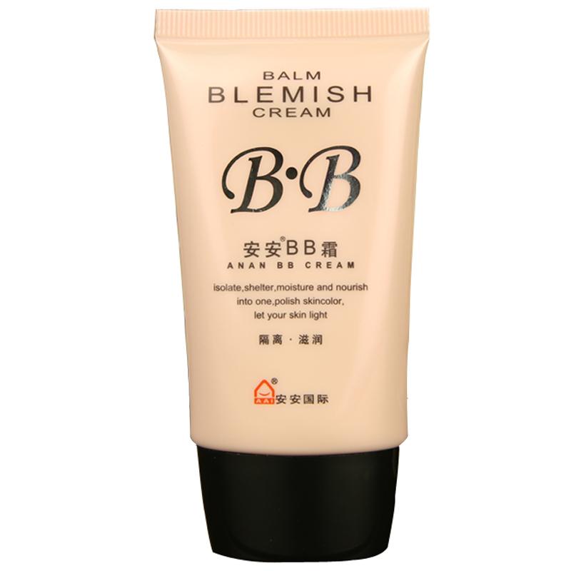 安安BB霜38g 隔離粉底裸妝 遮瑕強潤白保濕控油潤色溫和