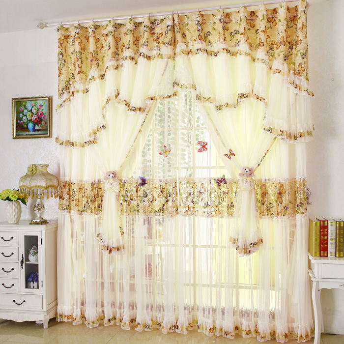 Modern Minimalist Korean Fresh Lace Curtains Princess Finished Custom Bedroom Living Room Window Shade