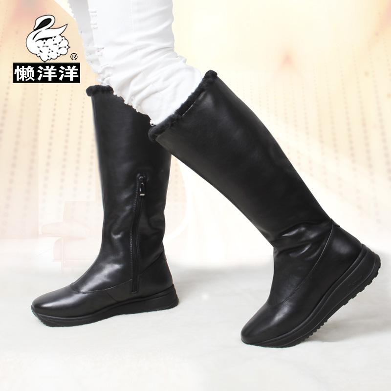 秋冬长筒舞蹈靴天鹅绒广场舞靴子软底拉丁舞鞋女靴中跟现代跳舞鞋