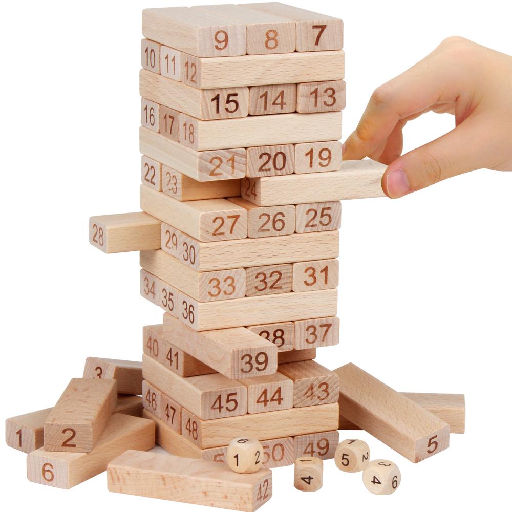 Jenga Building Blocks Stacking Stacking Взрослые высокая Настольная игра большая детские Обучающая игрушка