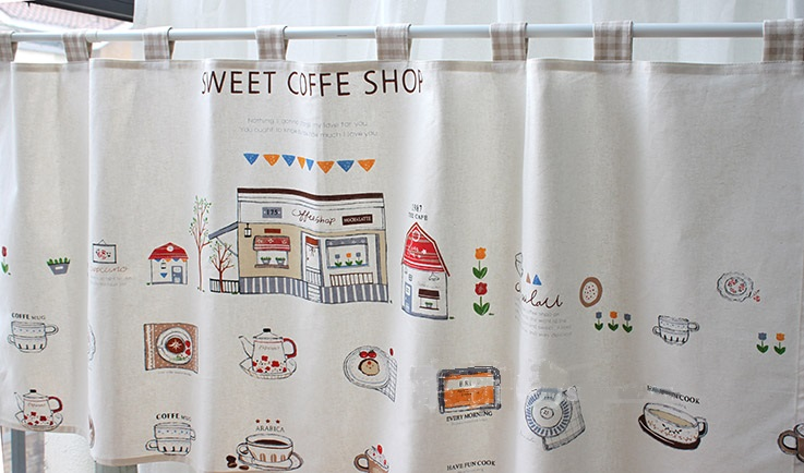Japanese Curtains Linen And Cotton Custom Made Door Ply Craft Kitchen  Curtains, Anti