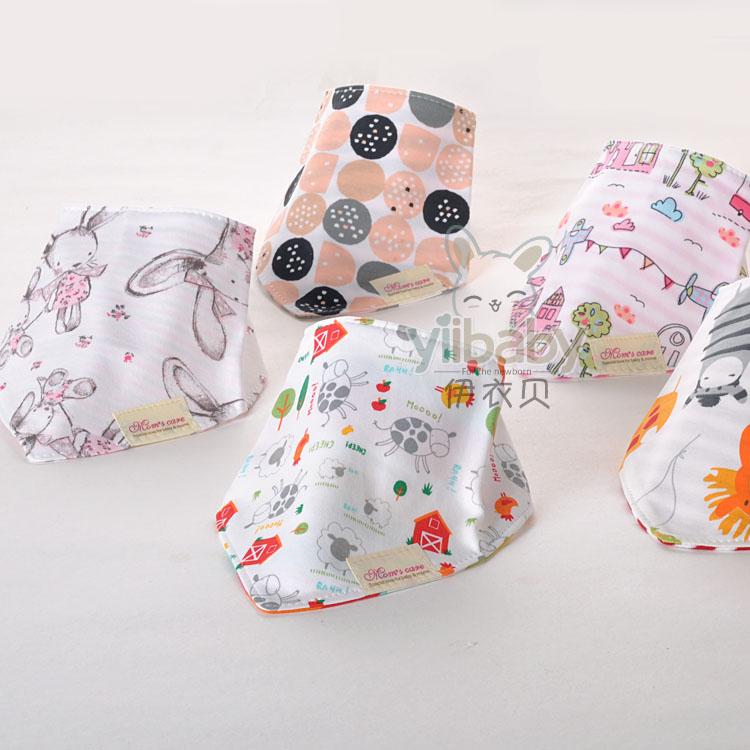 Em bé hai lớp khăn tam giác bông Đồ dùng sơ sinh Khăn ăn nước bọt Khăn yếm trẻ em bib bib - Cup / Table ware / mài / Phụ kiện
