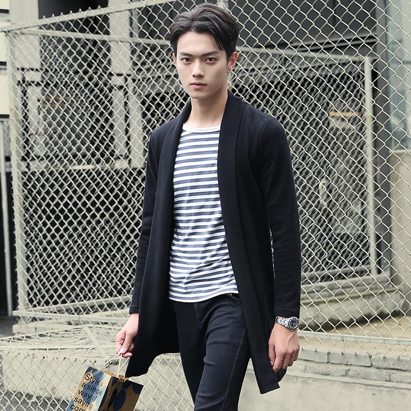 韩版男装毛衣男2016秋季新款青少年学生男士冬装修身针织衫外套潮