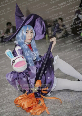 taobao agent Date A Live Shiitono Witch Women's Cosplay Costume Customized