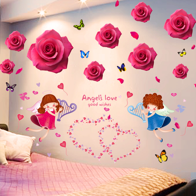 67362993062 3D wall stickers stickers girl heart layout bedroom warm room wall wall  decorations creative self- · Zoom · lightbox moreview · lightbox moreview ·  lightbox ...