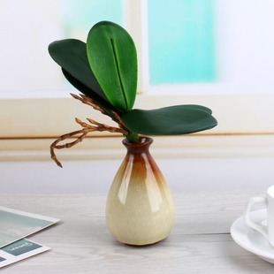 PU Phalaenopsis Leaf Artificial Plant Leaf Home Dcorative Fl