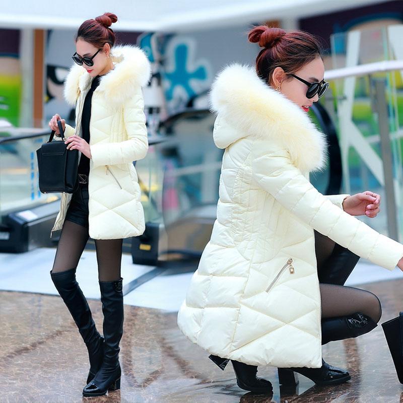 斗篷棉衣外套2015冬装新款大码女装韩版中长款貉子毛加厚羽绒棉服