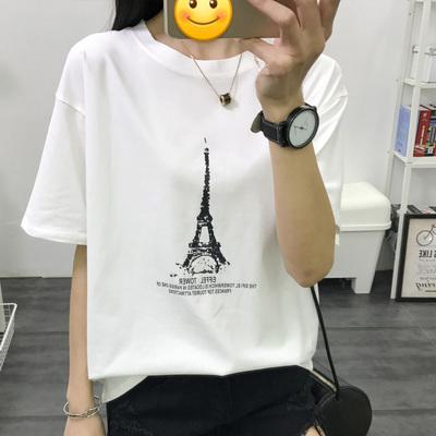 2018韩版宽松潮流女短袖T恤