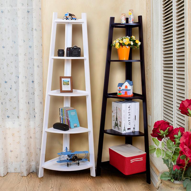 USD 39.66] Five-story corner corner shelf bedroom shelf living room ...