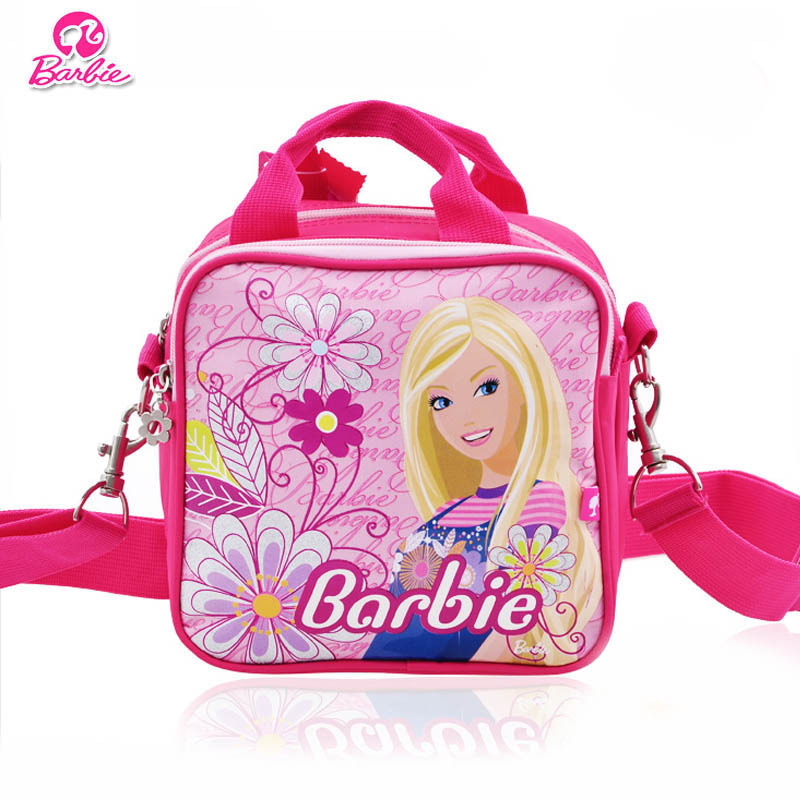 603f5165c2fc Barbie princess messenger bag girls shoulder bag casual bag primary and  secondary school students side backpack