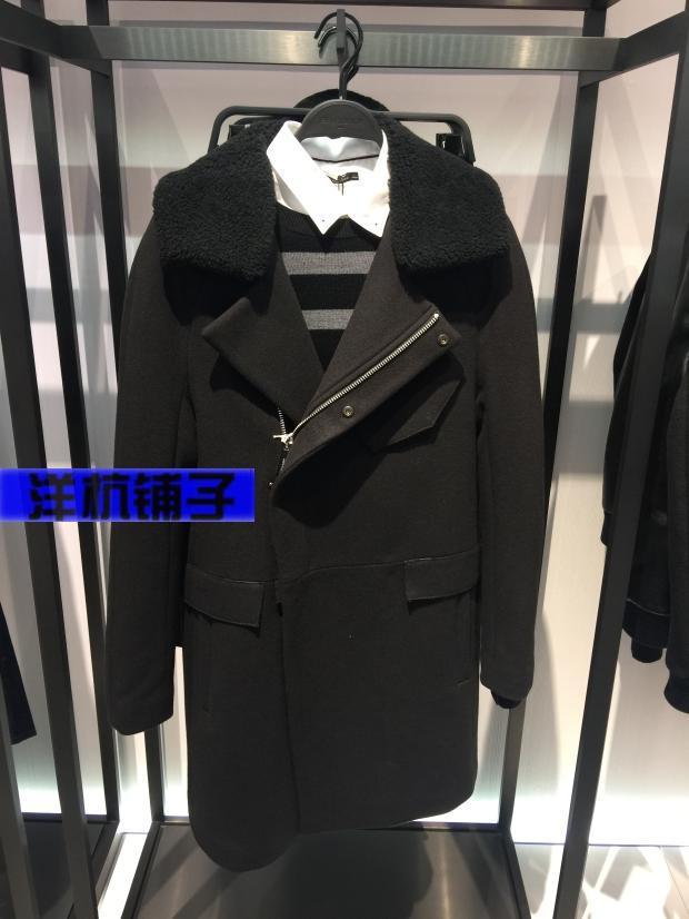 太平鸟15年冬款时尚男装 B2AA54404 毛呢大衣 专柜正品代购