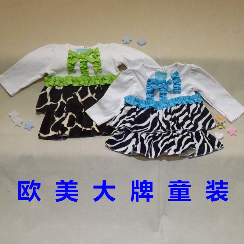 女欧美大牌连衣裙春秋裙衫(微长袖)棉混纺瑕疵宝宝6个月~2岁