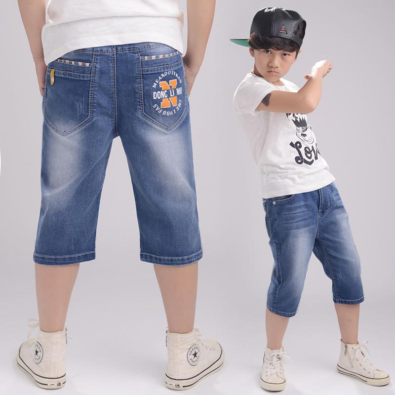 男童短裤儿童牛仔中裤夏装童裤童装裤子夏季潮男孩7分裤薄料大童