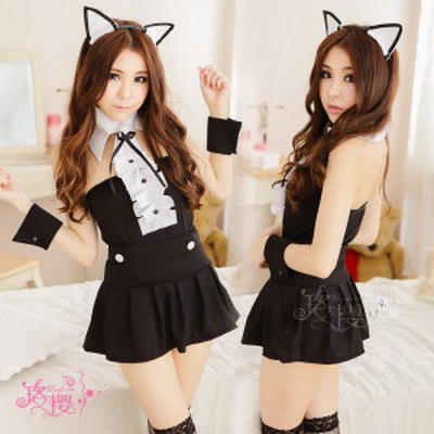 Bar Party Sexy Cat Girl Cos Cat Women Bunny Girl Halloween Adult Womens Clothing Nightclub Ds Show