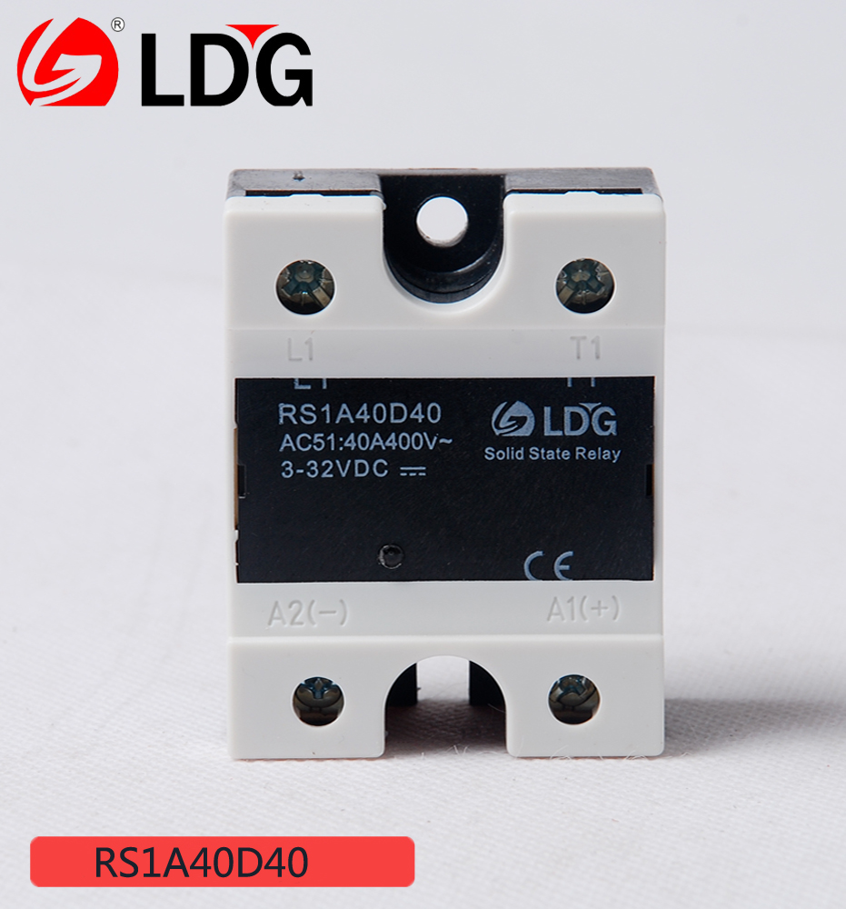 USD 14.26] LDG. RS1A40D40 solid state relay DC Control AC 40A 400V ...