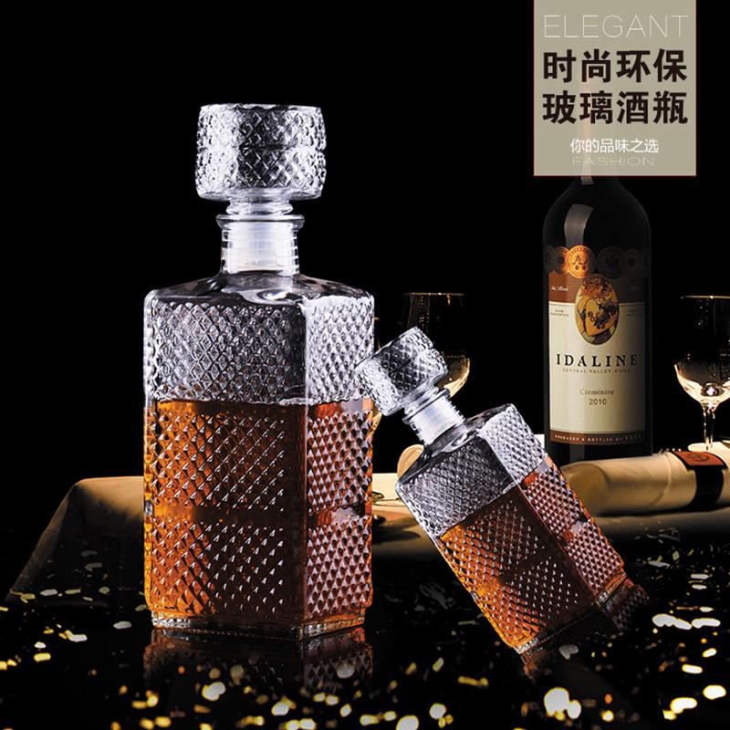 1000毫升无铅透明玻璃瓶 洋酒瓶 红酒瓶空瓶子 葡萄酒瓶 储酒器皿