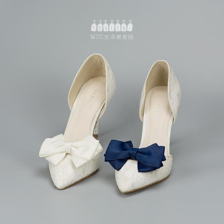 可拆卸鞋花鞋扣鞋饰缎带10451shoeclips百搭配件蝴蝶结鞋花扣