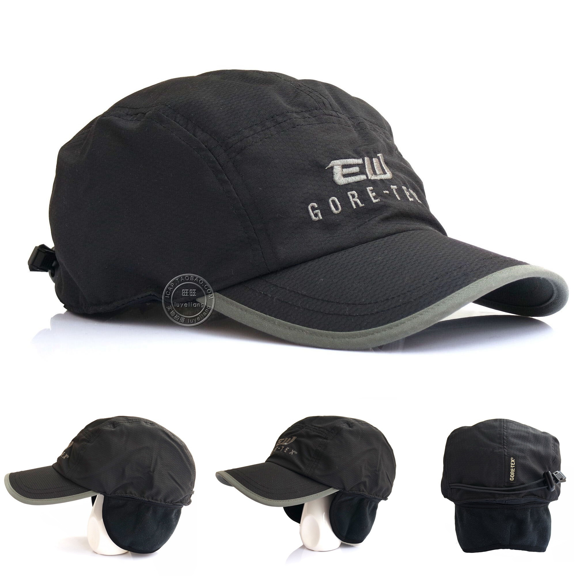 EW英国Eikowada男女户外防风防水透气秋冬护耳帽GORE-TEX平顶帽子
